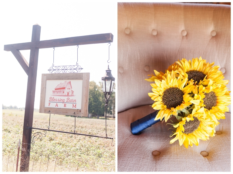 Barn wedding, sunflowers, Jackson TN wedding