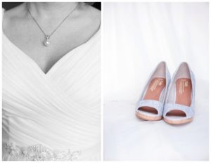 brides necklace and wedding Tom shoes