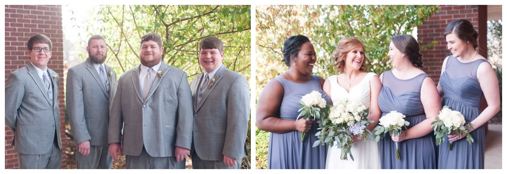 groom and his men and bride and her girls